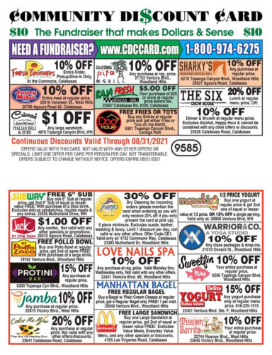 Buy Your Community Discount Cards 2021-22