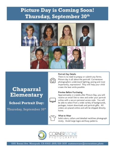 Picture Day is THIS THURSDAY!