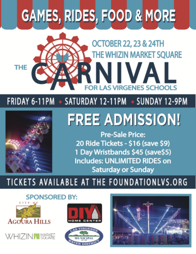 THE Foundation is holding their annual Carnival at the Whizin Center