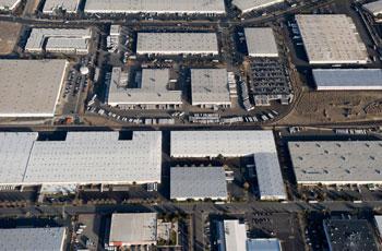 multiple buildings aerial