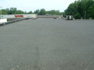 New 4 ply Asphalt and Gravel Manville Total Roof System