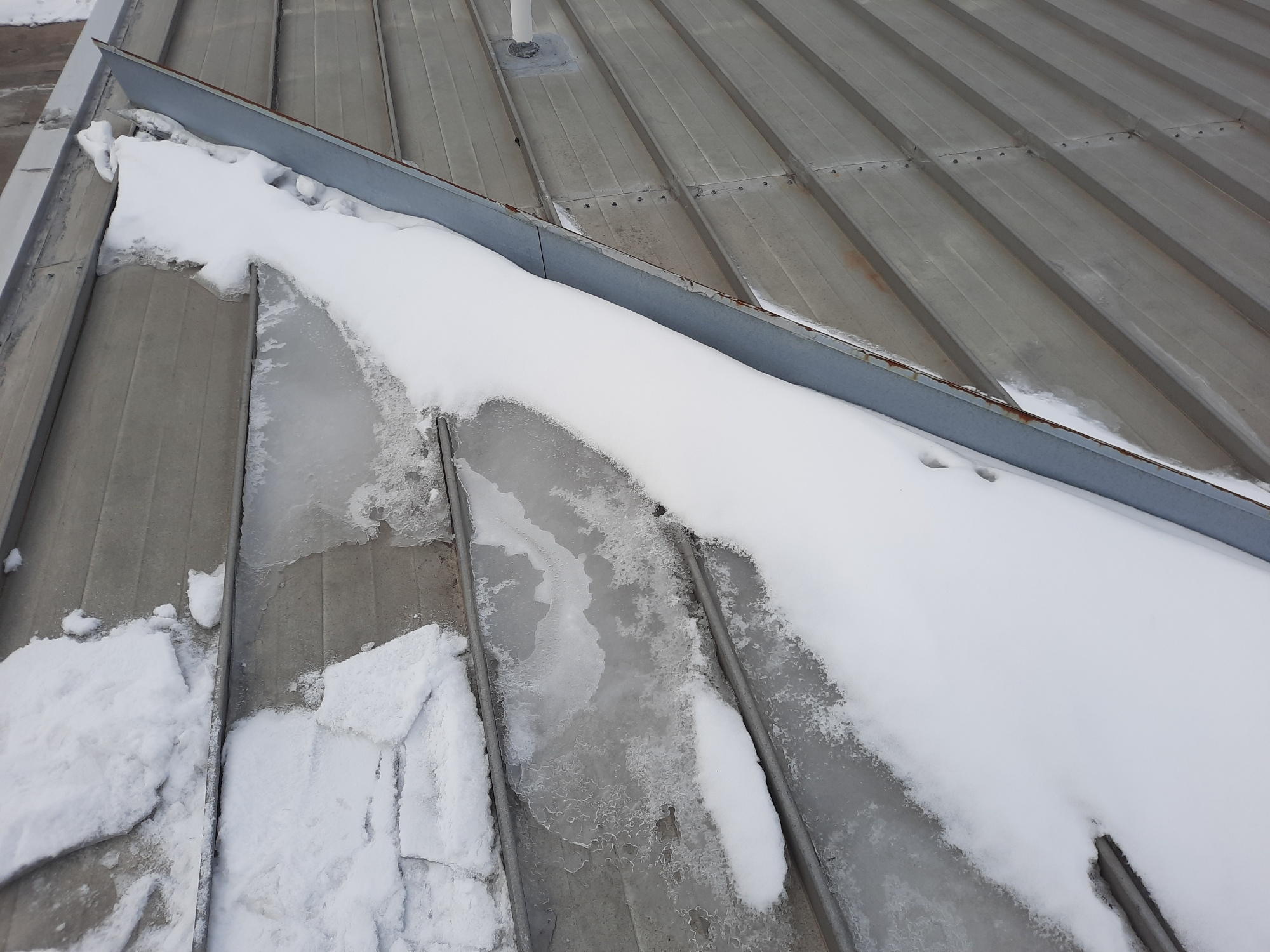 Leaks Due to Ice and Snow