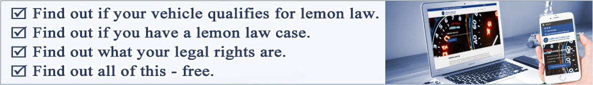 California lemon law information