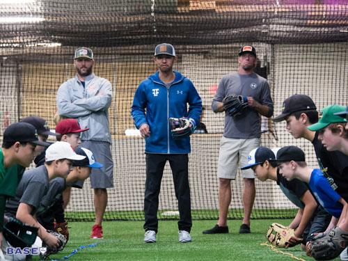 Coach Kai directs a fielding drill on Dec. 9, 2017.