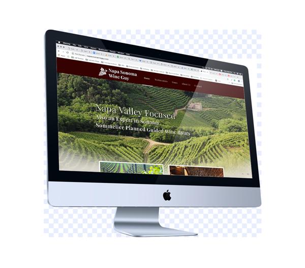 Web Design for Wine Country Tour Guide in Napa, California