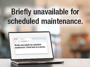 Briefly unavailable for scheduled maintenance error wordpress web designer