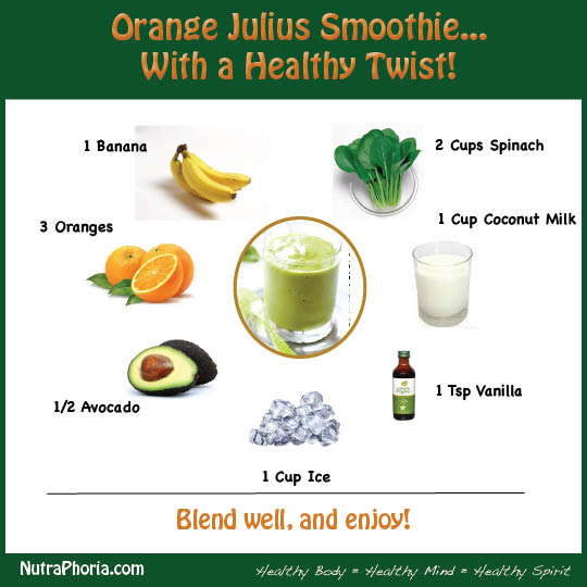 healthy orange julius smoothy