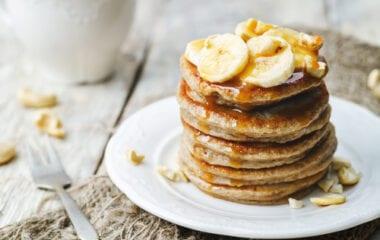 Banana Bread Vegan Pancakes