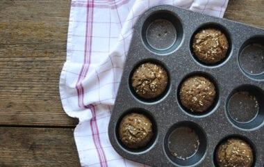 Chocolate Chip Flax Seed Banana Muffins