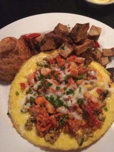 Open Faced Lobster Omelette