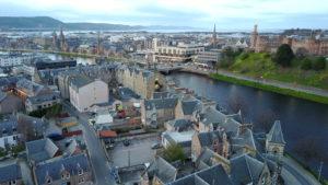 Drone Shot of Inverness, Scotland - kktravelsandeats