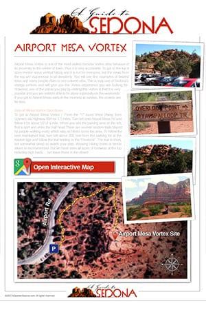 Airport Mesa Vortex - Sedona Vortexes Map - AGuidetoSedona