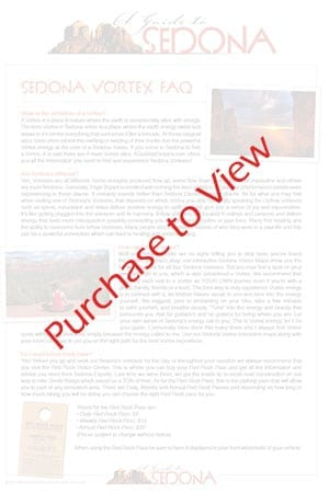 Sedona Vortex Map and Vortex Guide - AGuidetoSedona