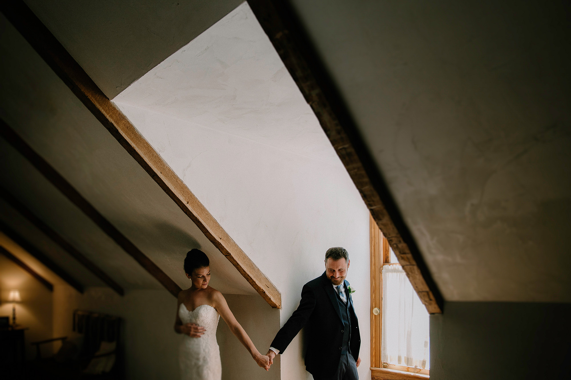 First touch with bride and groom