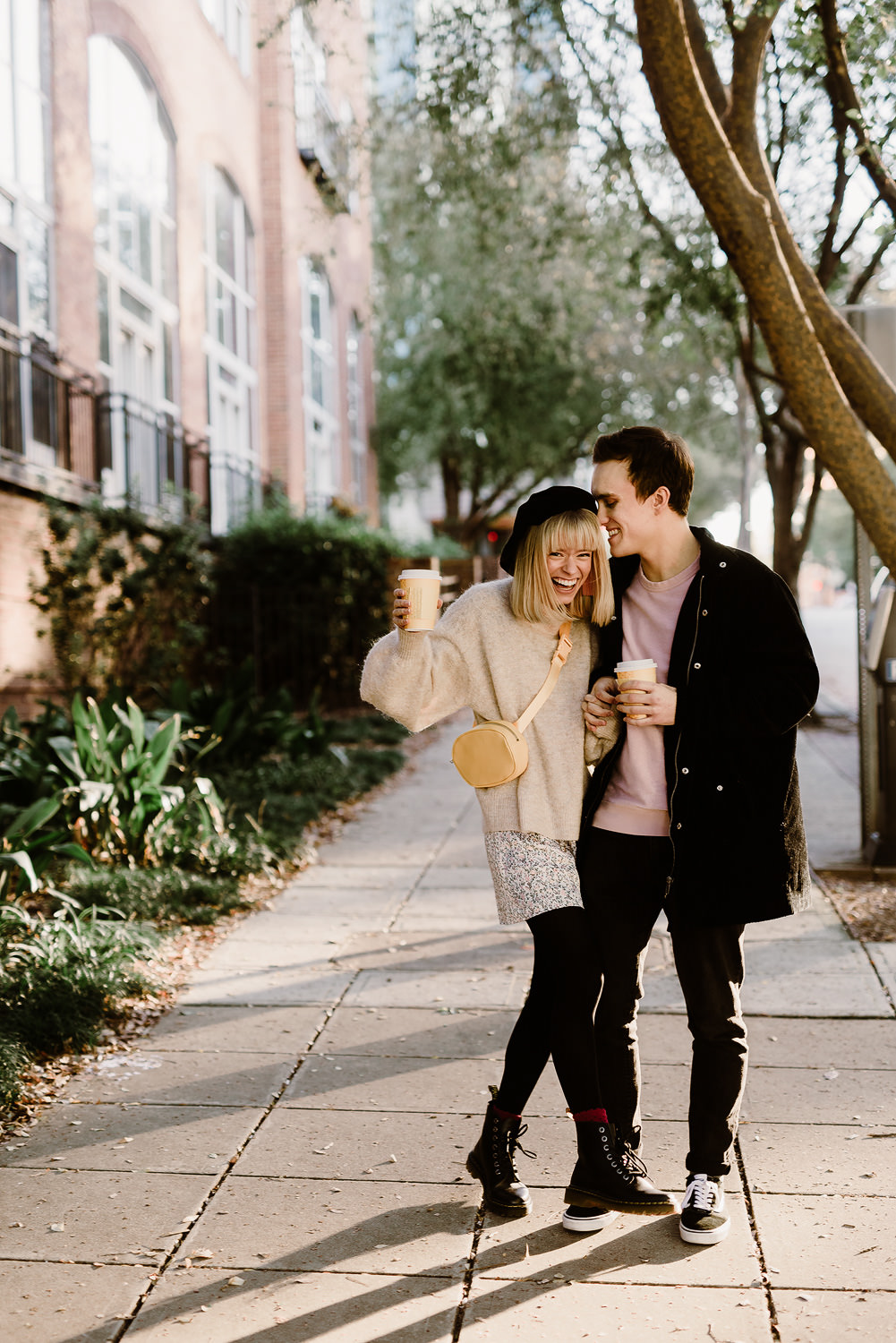 Hip downtown Raleigh Engagement Session