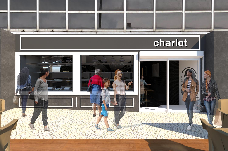 Vitrina da Pastelaria Charlot