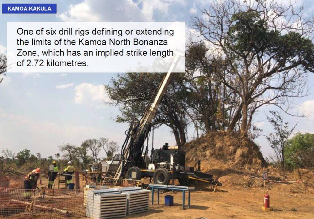Drill rig working on the Kamoa North Bonanza Zone