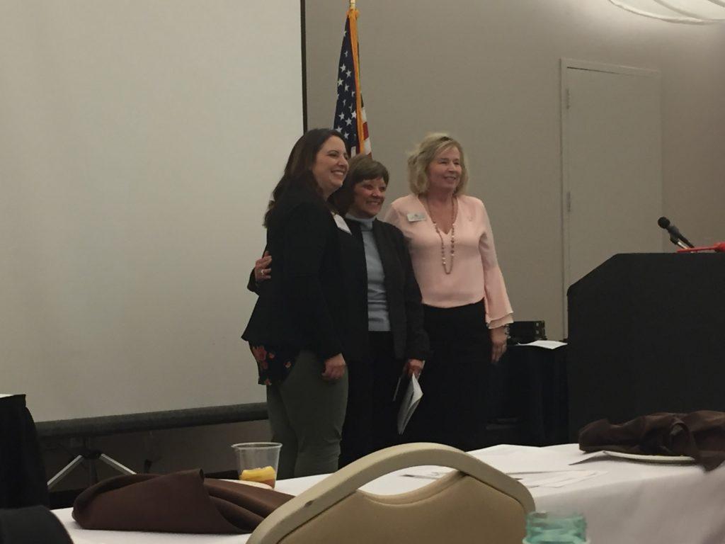 CDFA Secretary Karen Ross with State President Sara Reid Herman and past President Jeanette Lombardo.