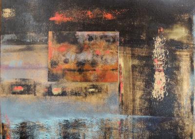Beneath   oil on wood  16x20