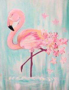 Flamingo @ Tipsy Brush