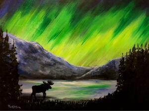 Northern Lights Moose @ Tipsy Brush