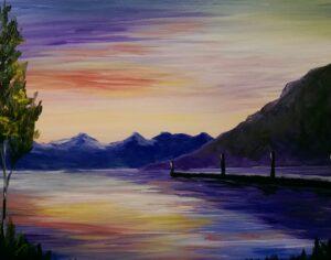 Sunset on the Lake @ Tipsy Brush
