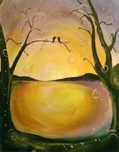 Lovebirds at Sunset @ Tipsy Brush