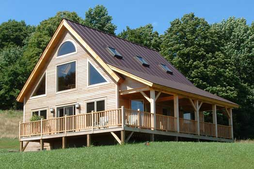 Timber Frame House FINISHED