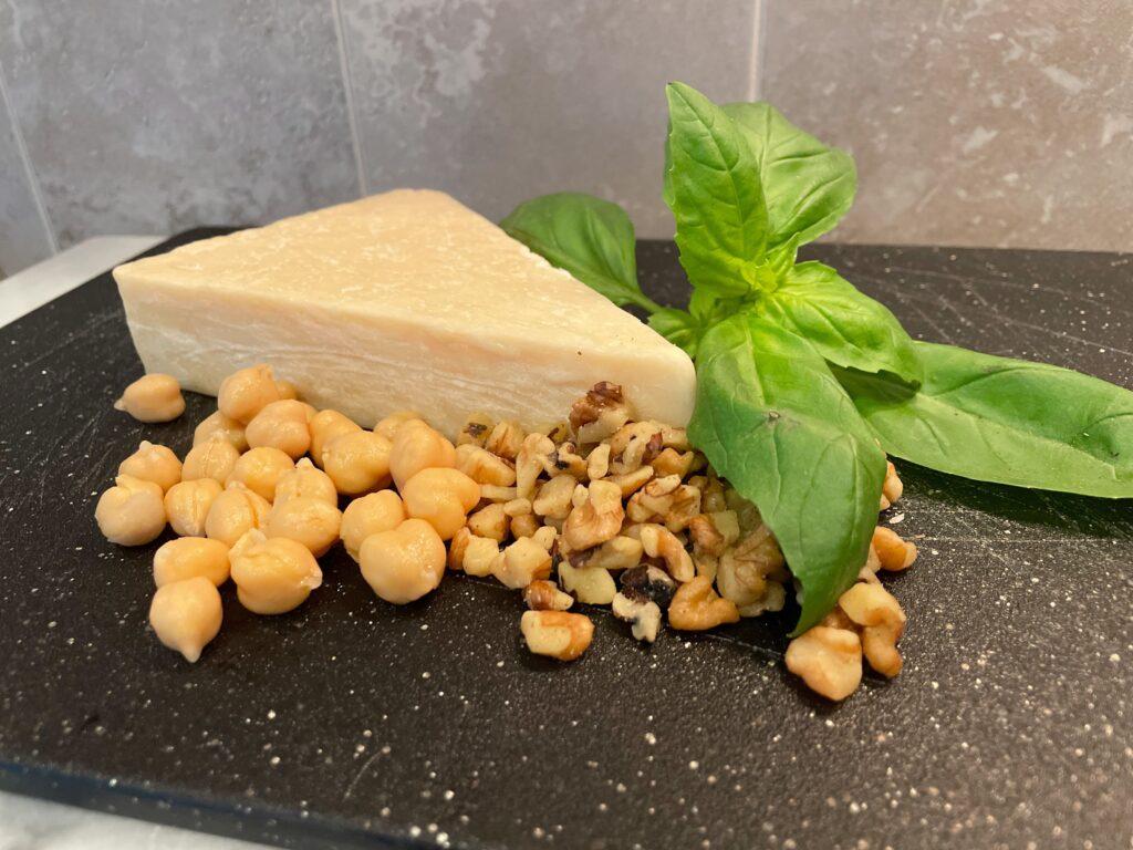 Ingredients for pesto.