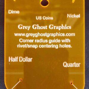 Corner Radius Guide 4 US Coin Sizes