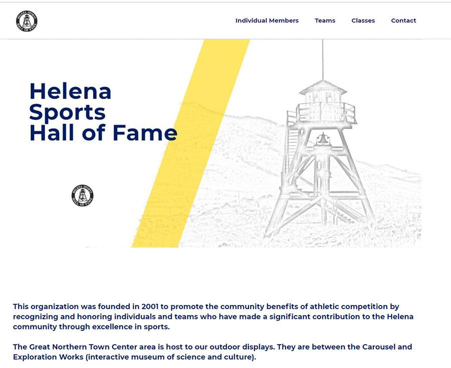 Helena Sports Hall of Fame screenshot