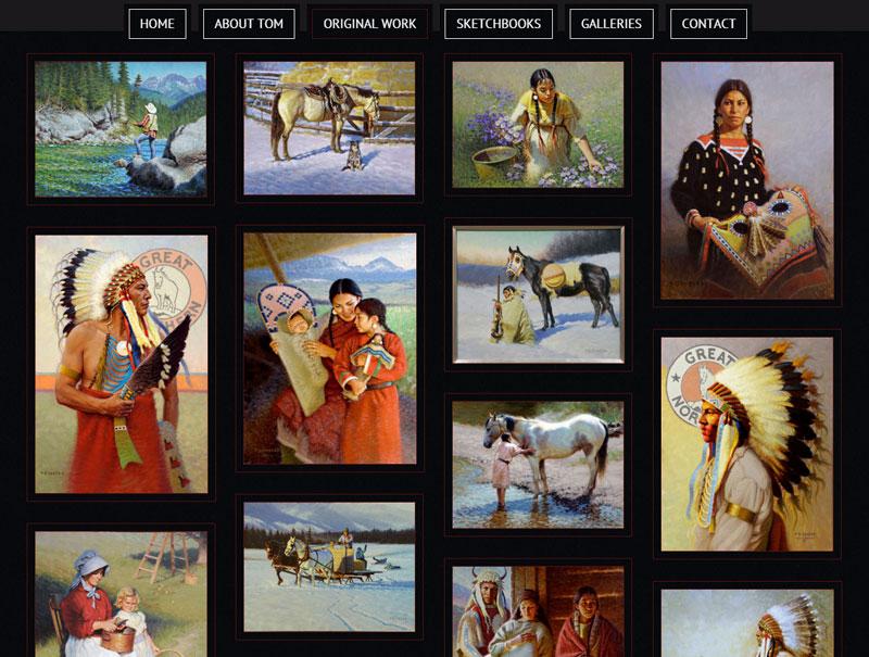 Tom Saubert website screenshot