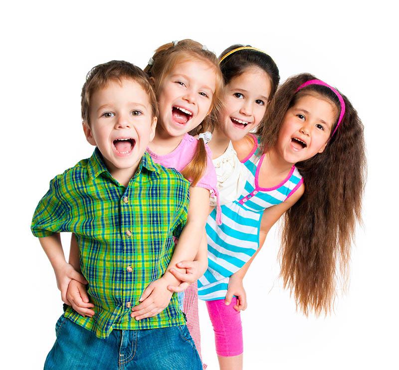 happy laughing smiles kids teeth