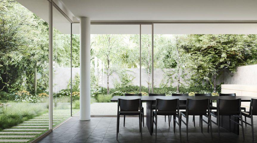 Heyington Toorak dining room set in garden
