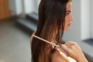 Don't brush hair when wet.