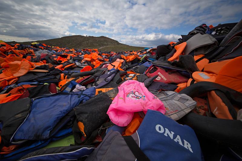 Lesbos, life jackets