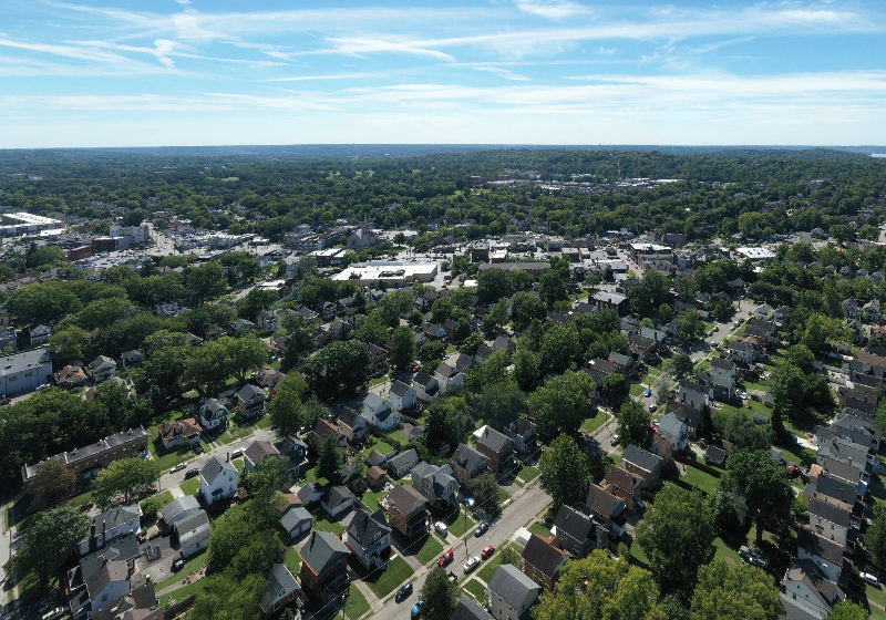 Aerial View of Foundry Park Location in Oakley