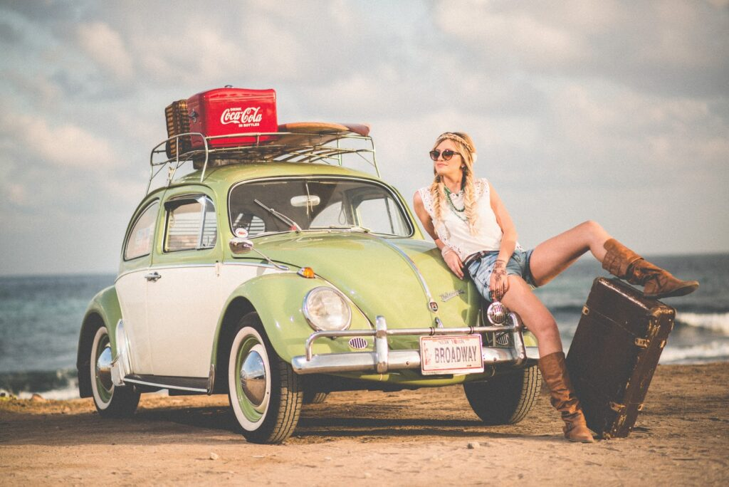 Should I Stay Girl VW Inspired Tourist
