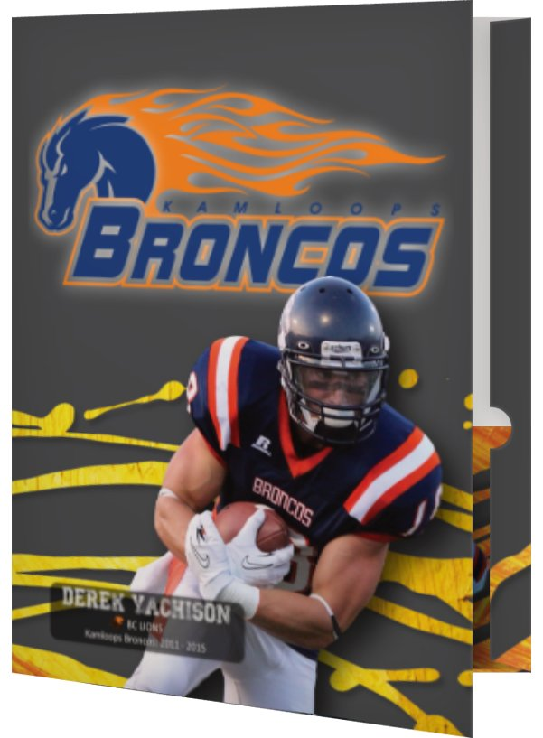 Broncos Folder design