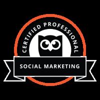 social media marketing badge