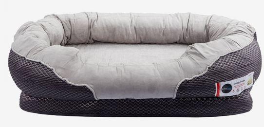 Barkers grey orthop[edic dog bed dogspeaking.com