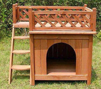 Meryweather dog house with balcony - best dog house