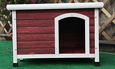 Petfit wooden dog house with balcony best dog house