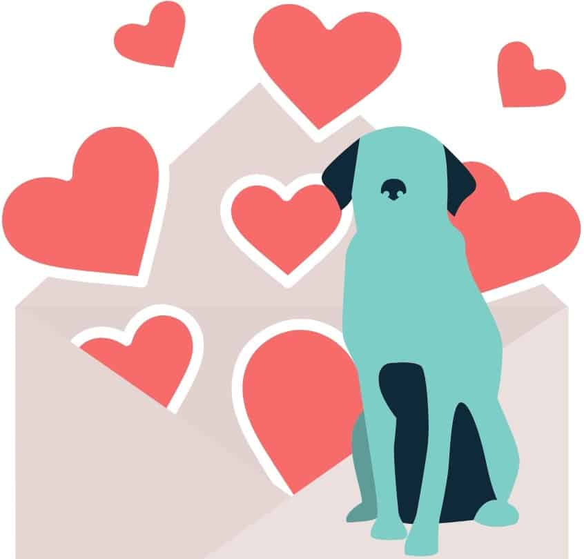 Dogs need lots of love - Dogspeaking.com