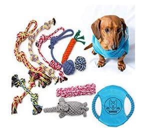 Puppy Chew Toys - Dog Rope Toys Set - dogspeaking.com