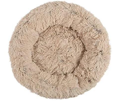 Best Friends by Sheri Calming Shag Vegan Fur Donut Cuddler dogspeaking.com