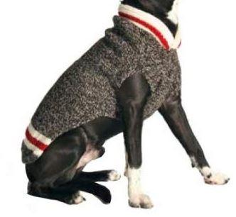Chilly dog boyfriend sweater - dog winter coats