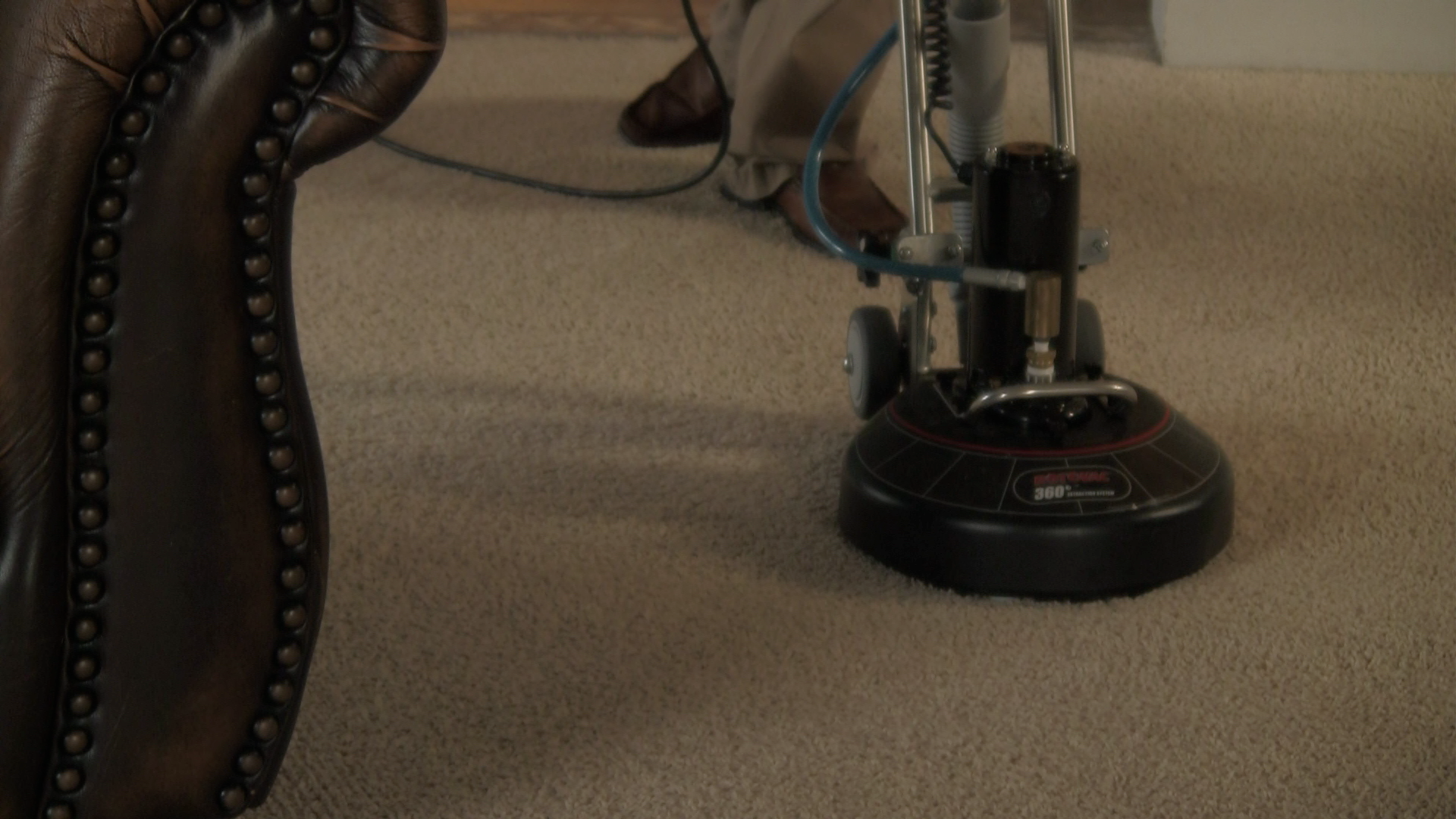 Cleaning your carpets.