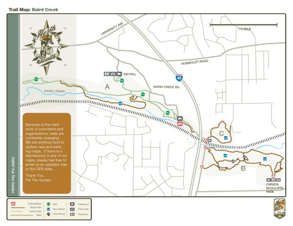 Baird Creek Trail Map
