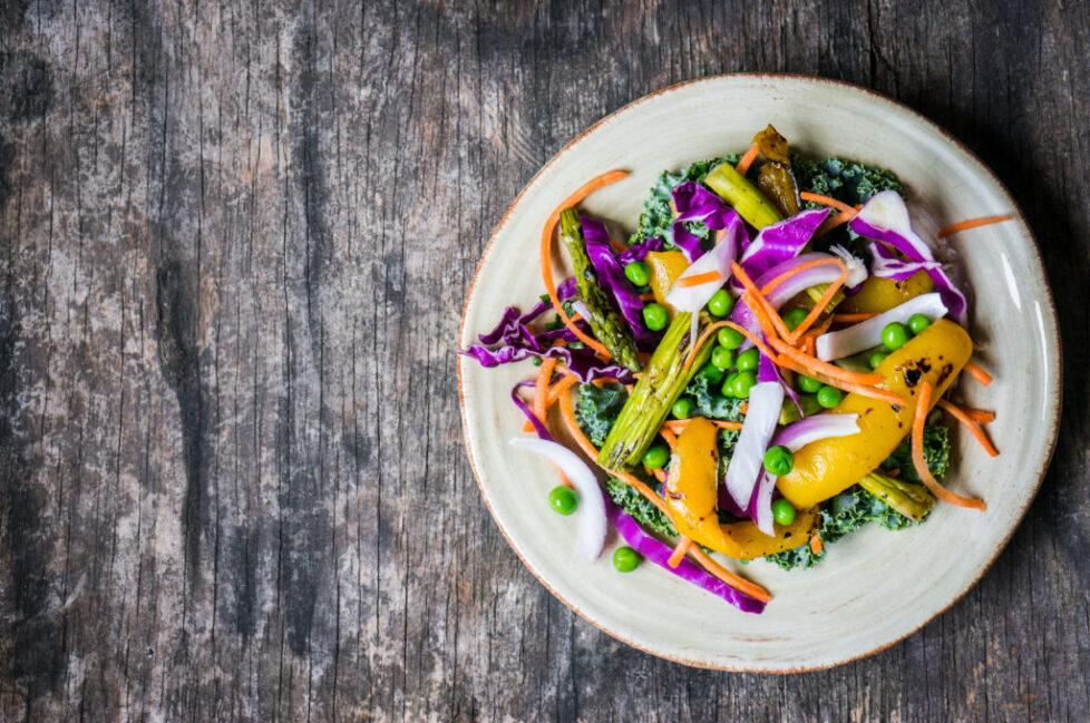 Salad with grilled vegetables